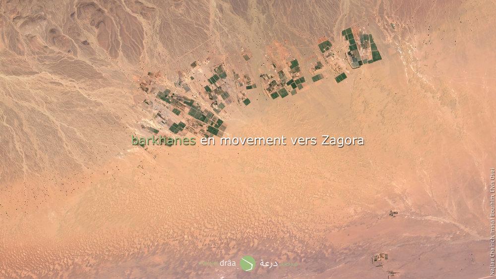 Le type de dune se correspond avec les barkhanes.
