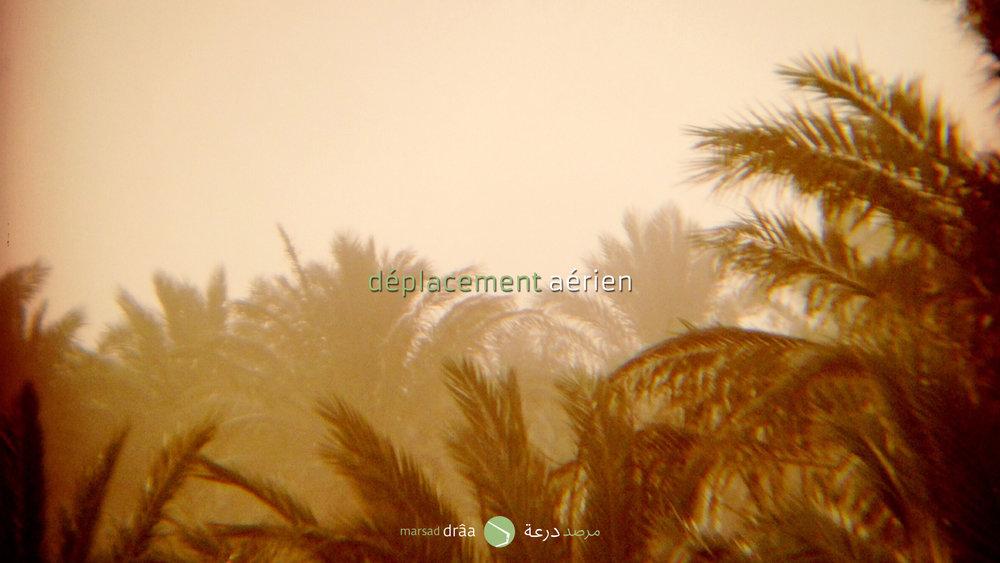 Mais le sable a une autre manière de se déplacer, avec le vent. On a eu des réunions avec des chercheurs espagnols d'une École de Génie des Télécommunications à Madrid. Ils proposaient l'utilisation de nano-émetteurs qui pourraient se déplacer aussi comme le sable, avec le vent. L'information pourrait être plus fiable et en temps réel. Marsad Drâa proposera cette recherche au Haut Commissariat des Eaux et Forêts.