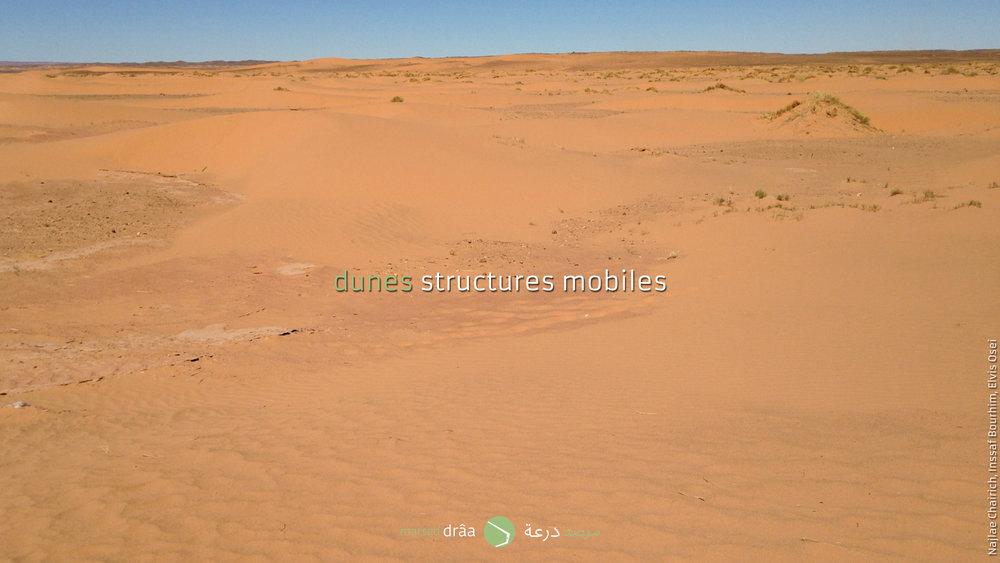 Avec les données qu'il y a, c'est à dire, avec la direction du vent et la forme des dunes, les étudiants ont formulé une hypothèse.