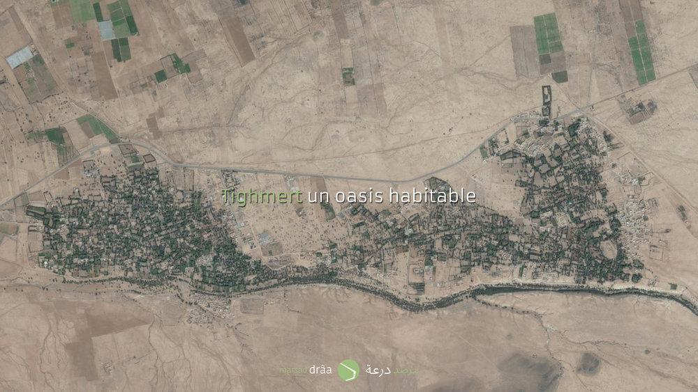 Mais il y a d'autres régions au Maroc, où les gens habitent dans des maisons individuelles à l'intérieur des oasis. C'est l'exemple de l'oasis de Tighmert, dans la province de Guelmim. Bien évidement les contraintes sociologiques et même historiques (dans cette province le seul ksar important est celui d'Assa) sont différentes, mais on pourrait apprendre de cette situation.