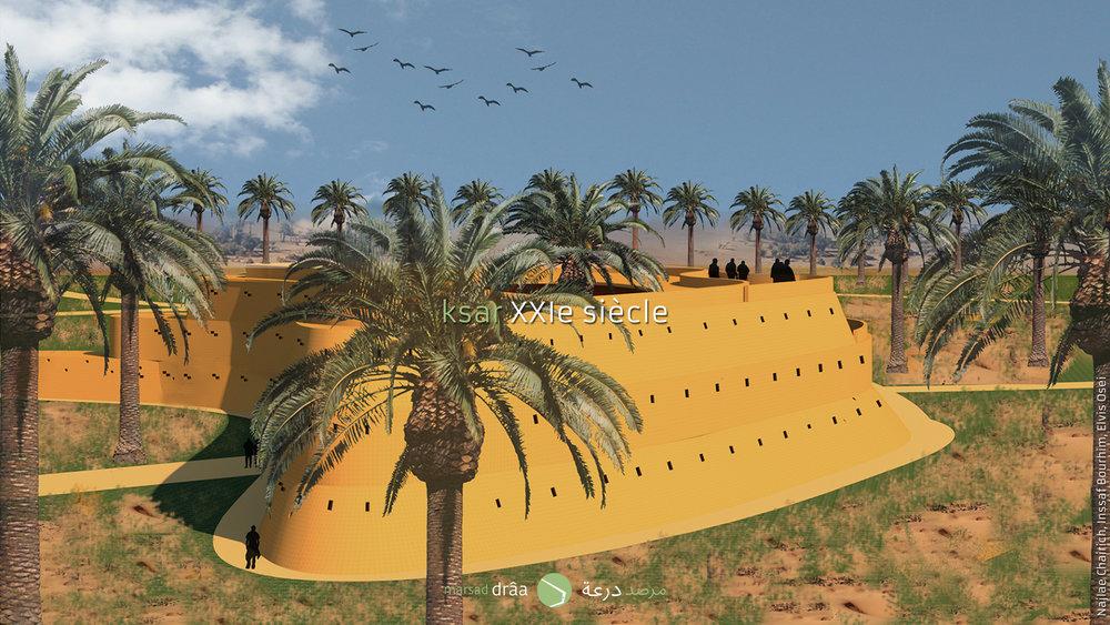 Que l'image finale ne soit pas normale, ne doit pas dire qu'il ne s'agisse pas d'un bâtiment issu de la palmeraie.