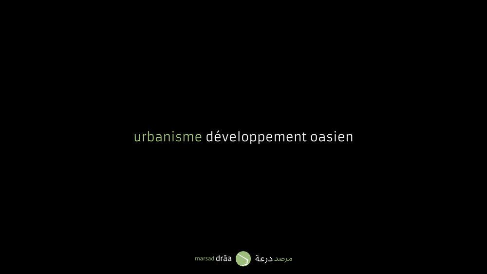 Pourrions-nous, vraiment, parler de l'existence d'un urbanisme oasien? Dans la vallée du Drâa il y a actuellement un grand défi à cause du développement des centres émergents. Est-il compatible avec les écosystèmes de la vallée?