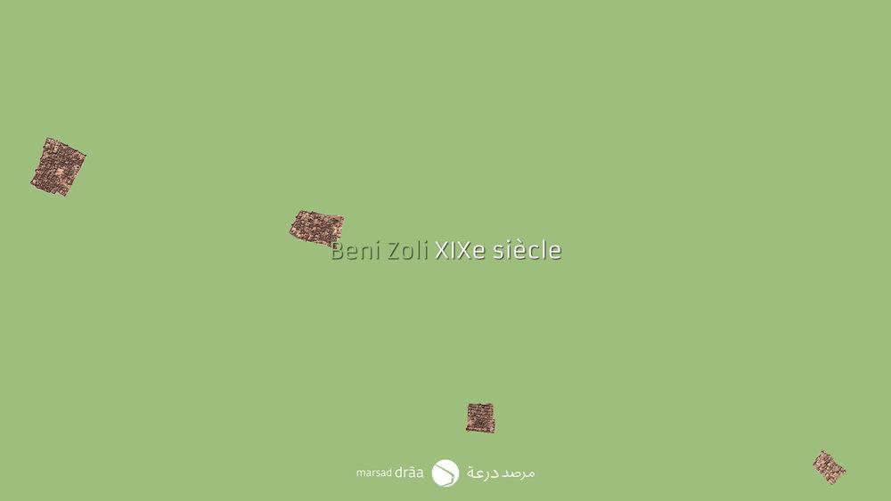 Si l'on regarde l'évolution qui a suivi Beni Zoli, on voit comment auparavant, les habitants se logeaient dans les ksour, qui étaient dans la palmeraie.