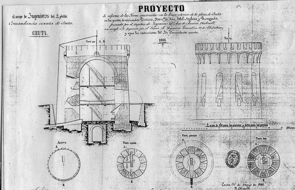 figura 16: proyecto de Piniers, Francisco de Asís y Anghera por José de Ramón Carbonell, 1866