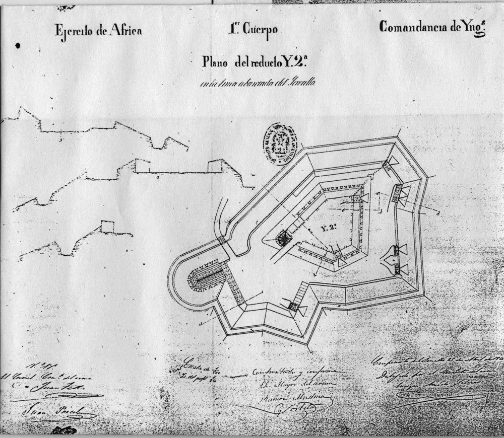 figura 4: reducto de Isabel II, 1859