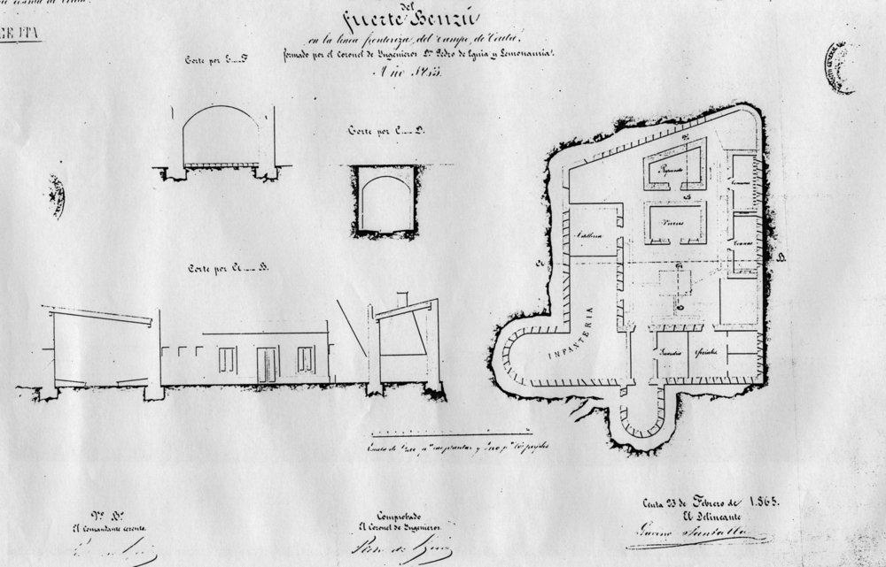 figura 26: proyecto de Benzú por Pedro de Eguía, 1865
