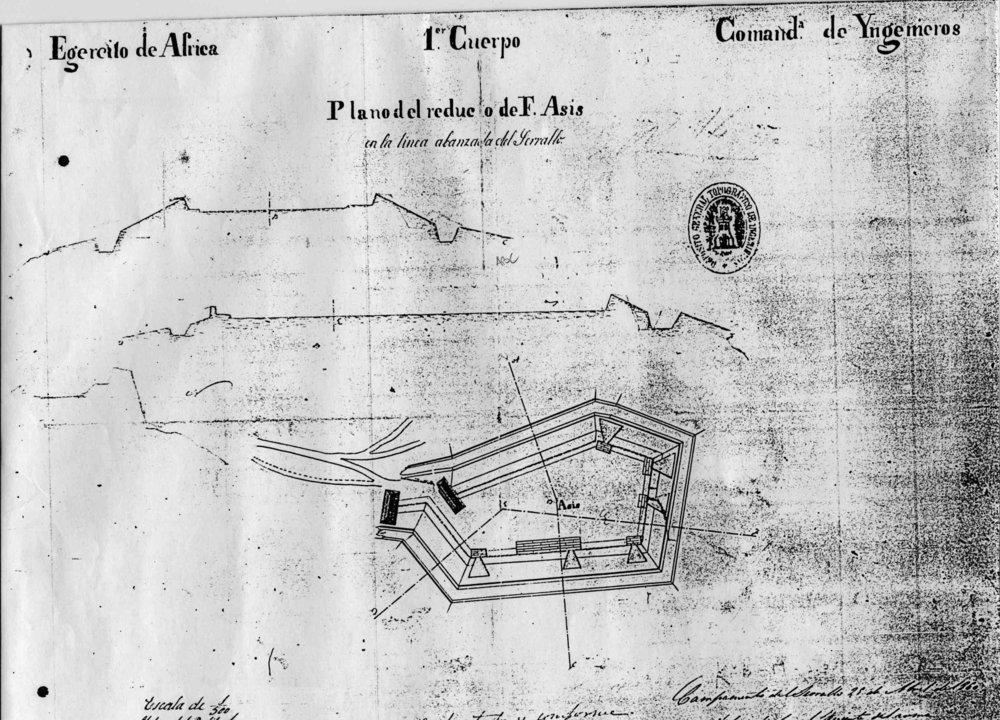 figura 2: reducto de Asís, 1859