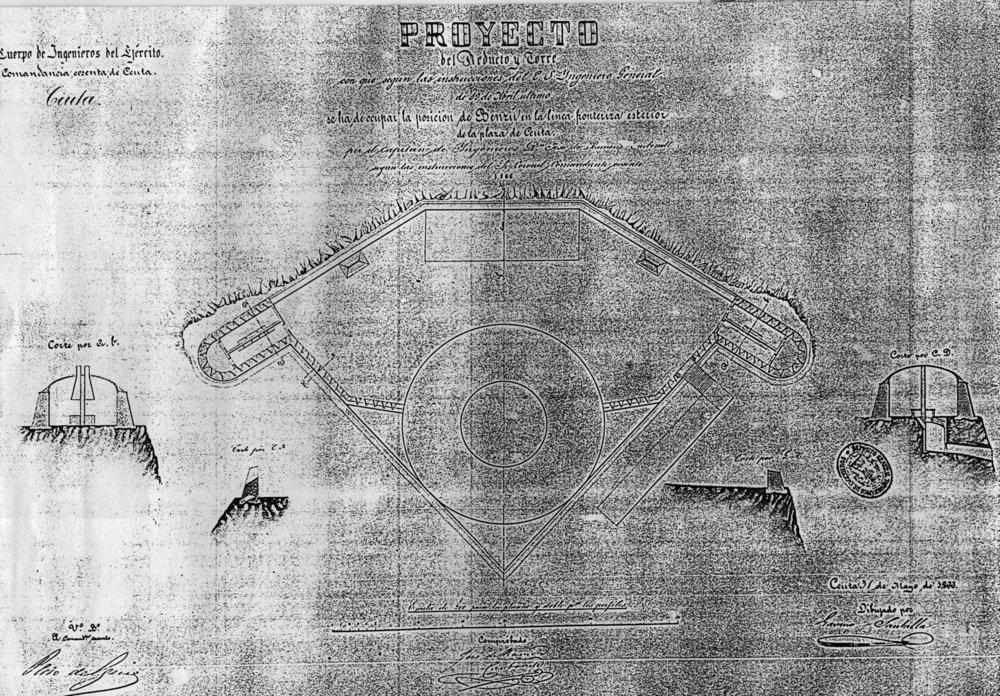 figura 28: proyecto de Benzú por José de Ramón Carbonell, 1866