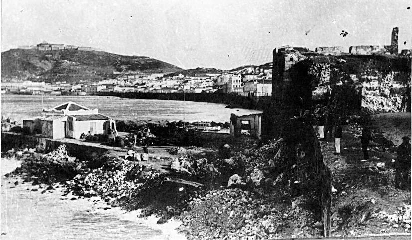 Desmonte del baluarte de San Juan de Dios en 1896.