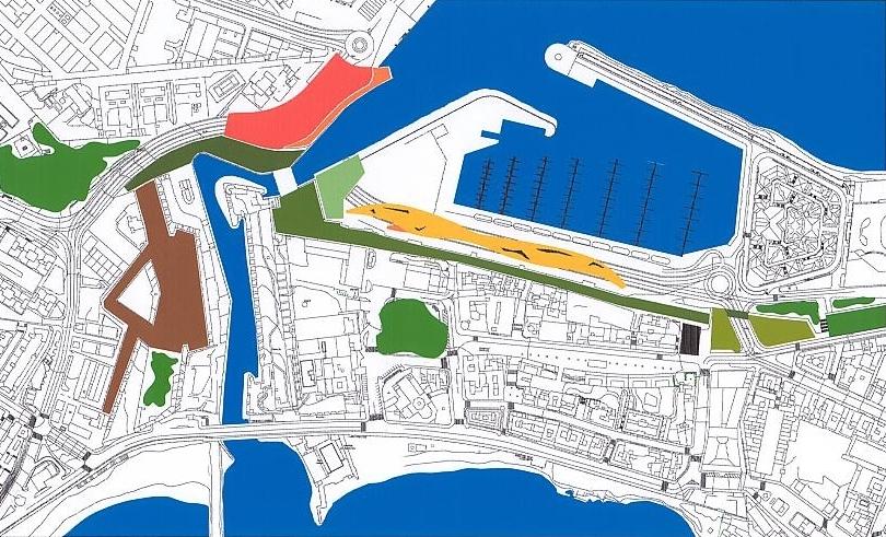variante 3 del concurso para el Desdoblamiento del Paseo de las Palmeras de Ceuta