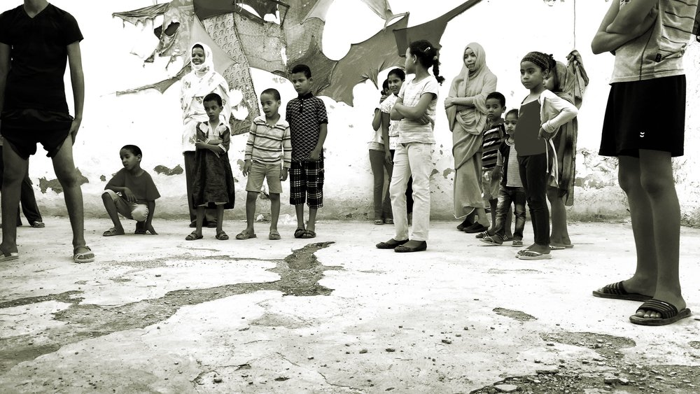 Contemporary danse workshop by Amar El Bojrad during Caravane Tighmert 2016