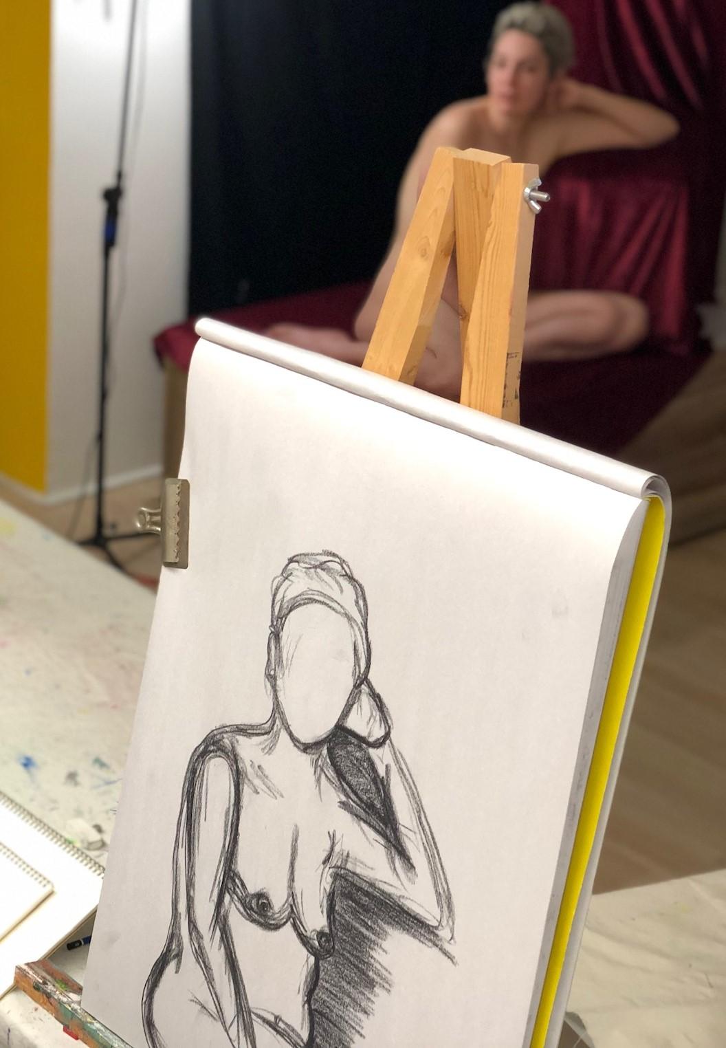 NEW! Live Model Drawing Class — Studio ACE