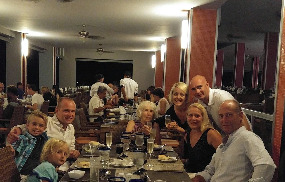 August 2016 (Costa Rica), family vacation. Celebrating parent's 35 Wedding Anniversary.