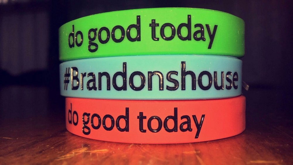"#Brandonshouse ""do good today"" wrist bands.  each order will receive 3 bracelets (one of each color). Keep them or share them!  We love the constant reminder to do good."