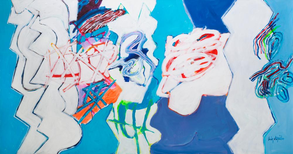 Luiz Aquila, A Pintura e a Catedral Submersa, 2016, 100 x 190