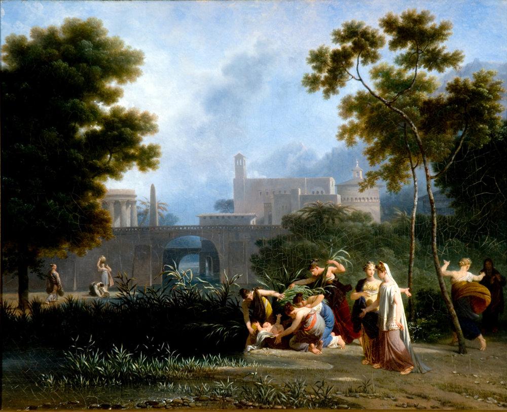 Nicolas Antoine Taunay,Moisés salvo das águas, 1826