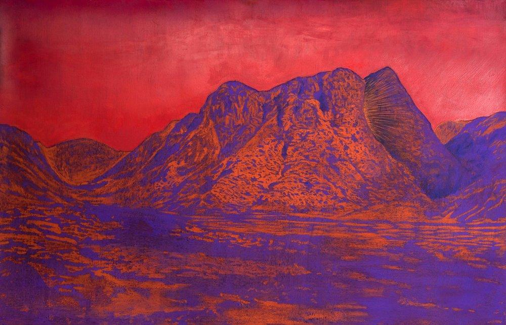 Bruno Vilela, Moisés, 2016, óleo e pastel seco sobre papel, Bruno Vilela, 60 x 80 cm