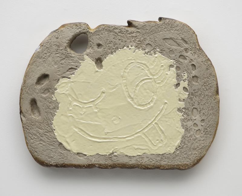 Rogério Degaki, Pão com manteiga, 2012, isopor, resina plástica, fibra de vidro e pintura automotiva / Foto:Edouard Fraipont