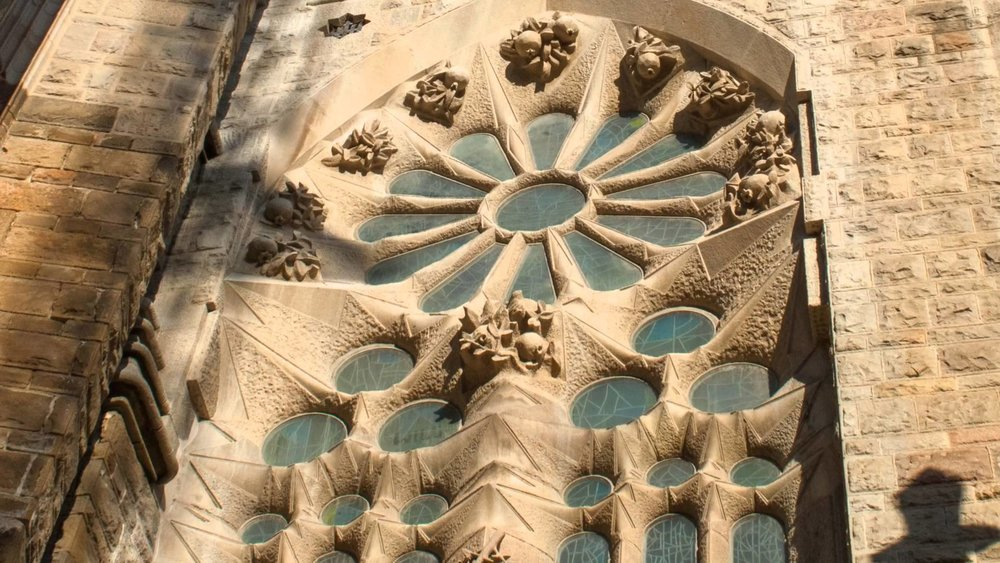 Gaudí, Sagrada Família, detalhe, Barcelona