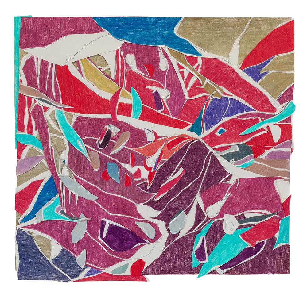 Marcia de Moraes, Atos falhos, desenho, grafite e lápis de cor