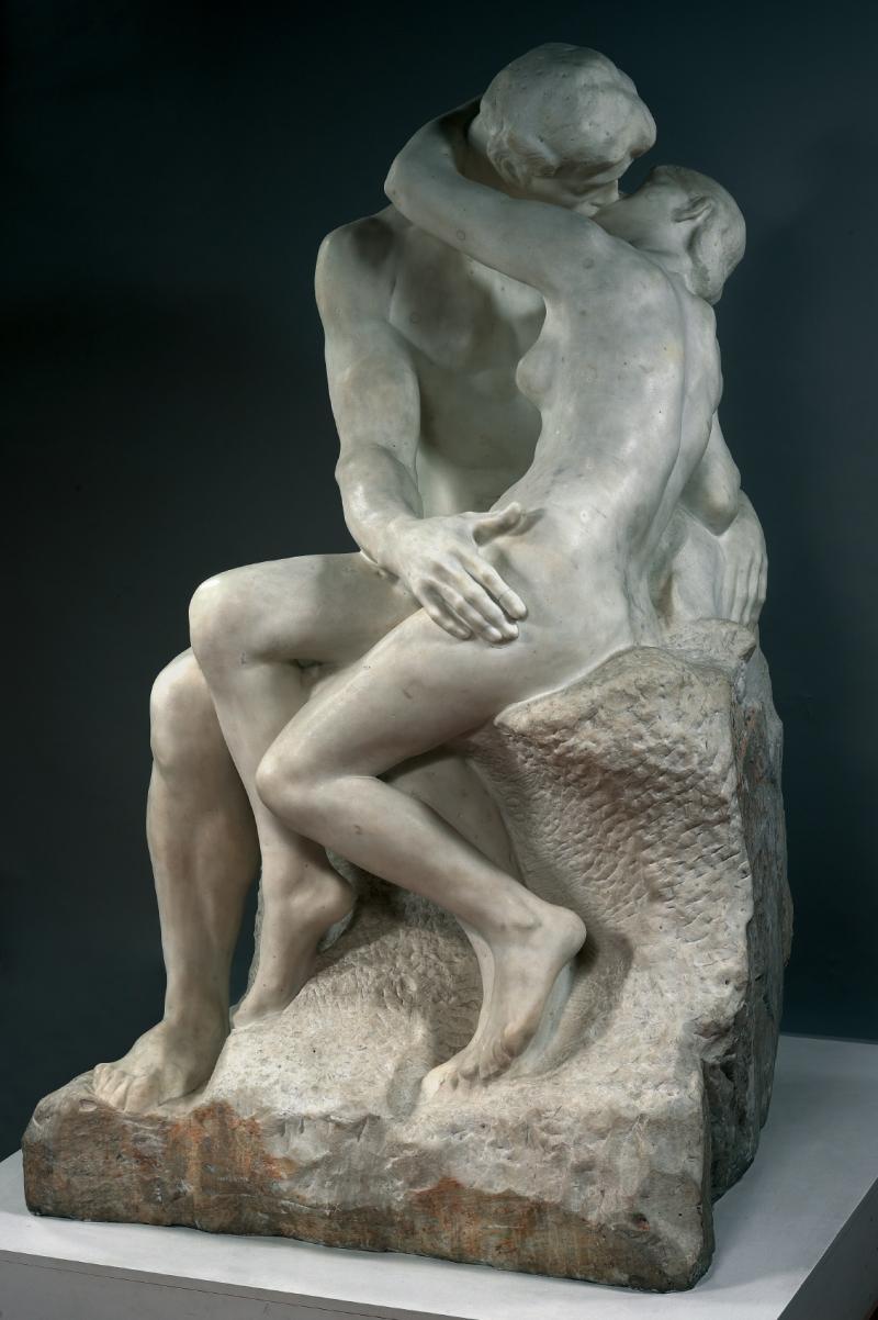 Auguste Rodin, O beijo, 1882-1889, mármore, 182 x 112 x 117 cm