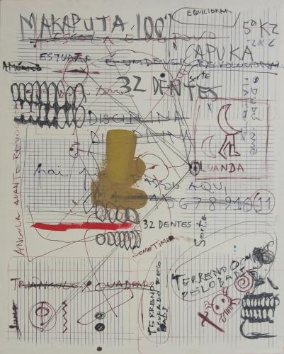 Yonamine, Sudoku#2, mista sobre tela, 100 x 80 cm, Coleção Helder Batáglia, 2006 - obra apresentada na ArtAfrica