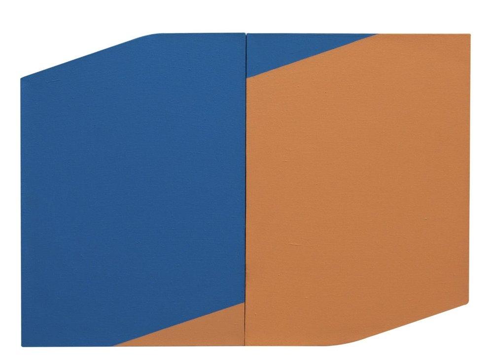 Marina de Falco, pintura sobre linho