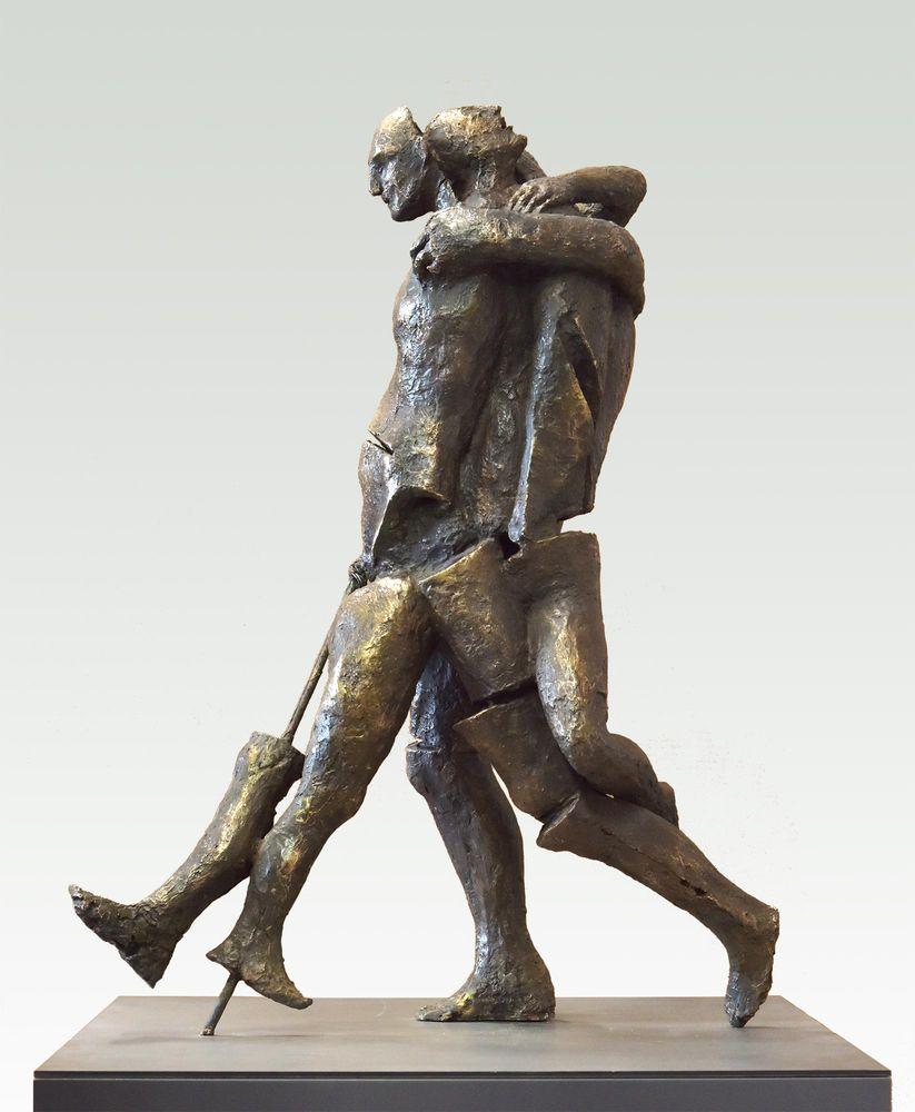Tamara Kvesitadze, Não me deixe, 2017, bronze, 70 x 66 x 90 cm