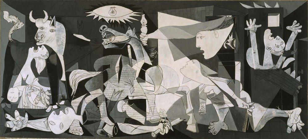 Pablo Ruiz Picasso, Guernica, 1937, óleo,349,3 cm x 776,6 cm