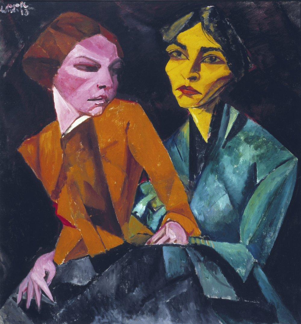 Lasar Segall, Duas Amigas, 1913, pintura