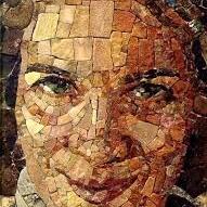 Rosangela Kusman Gasparin, Autorretrato, mosaico - Paraná, Brasil