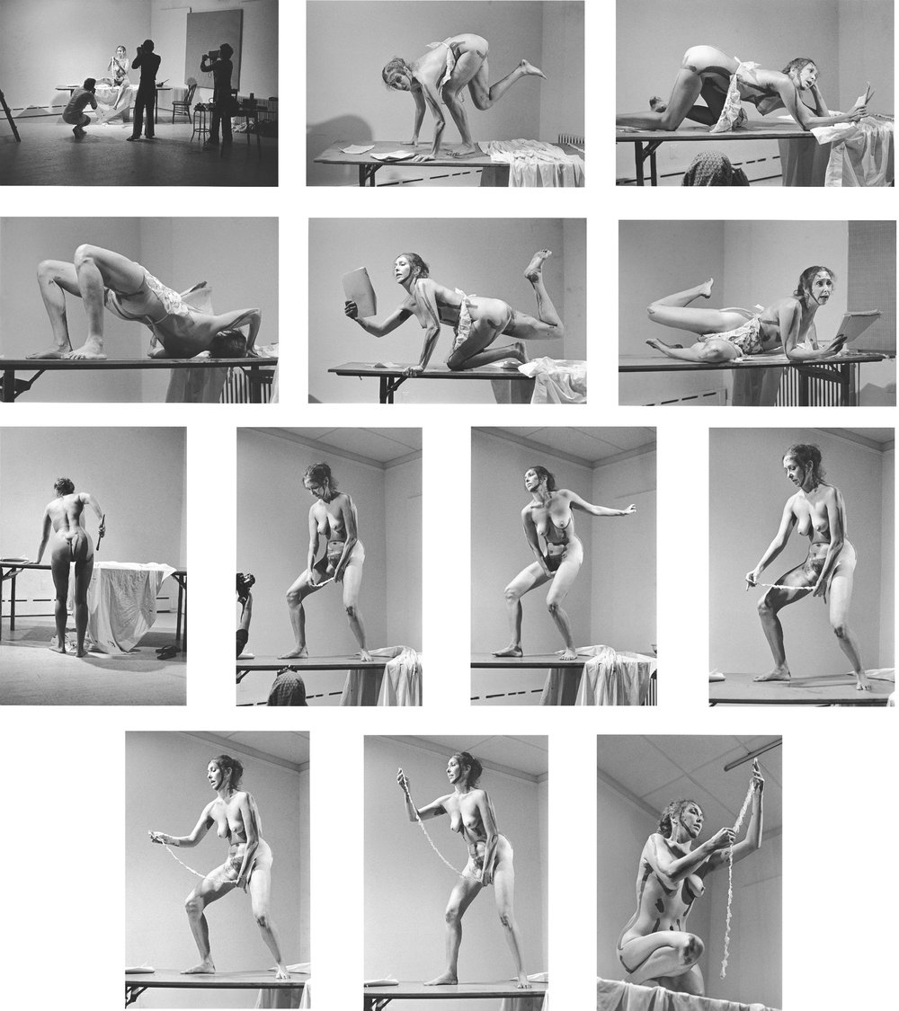 Carolee Schneemann, Interior Scroll, 1975, performance