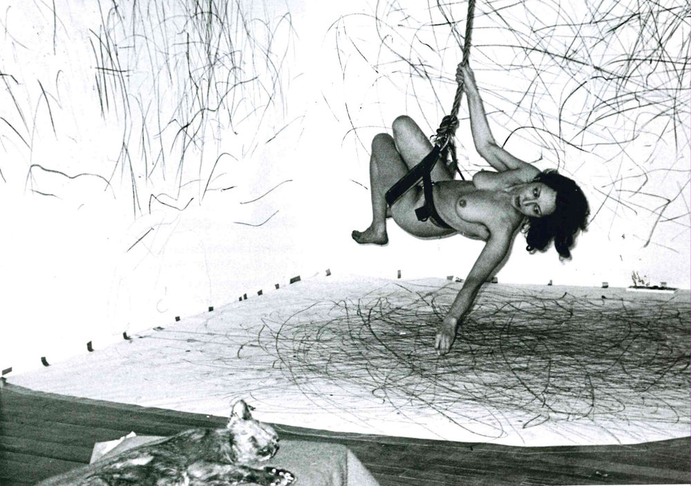 Carolee Schneemann, Up to and Including Her Limits, 1973, performance