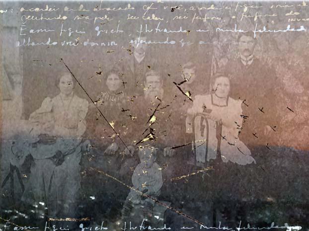 Lena Bergstein apresenta fotografias de família com grafismos nesta mostra individual