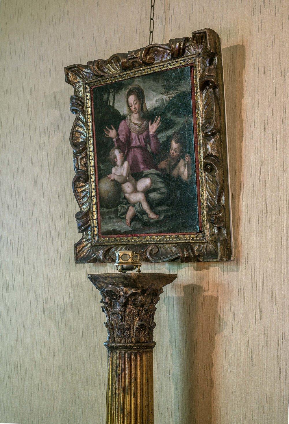 Relógio despertador, Joseph Jans,Alemanha e Madona, Menino e S.J.Batista, Itália - século XVI