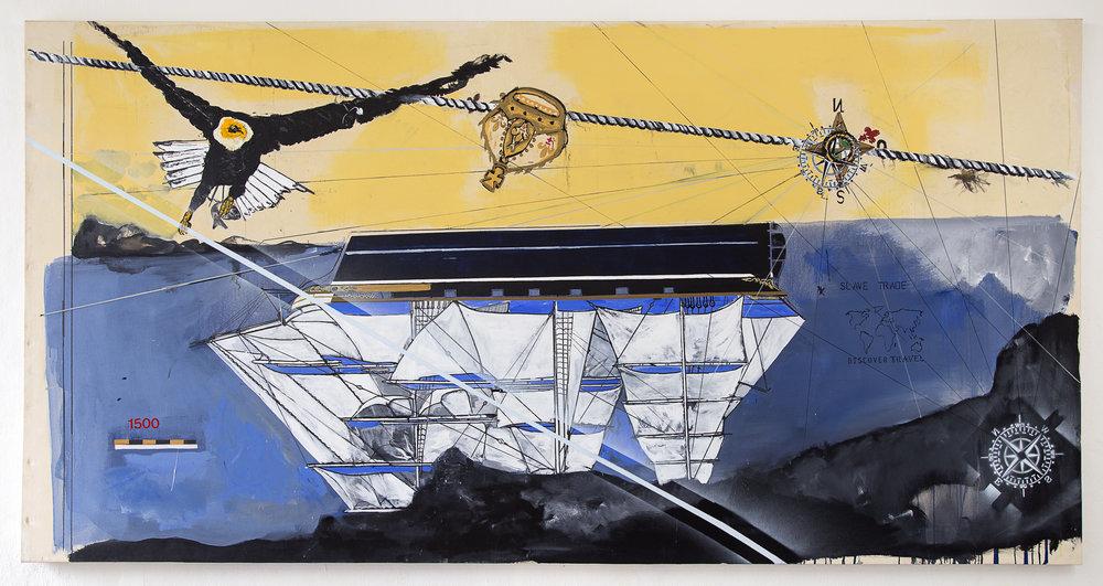 Obra do brasileiro Arjan Martins integram a mostra /Imagem cortesia Artista e Galeria A Gentil Carioca