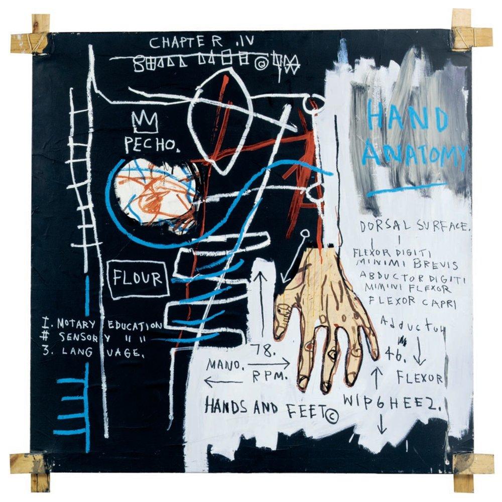 Jean-Michel Basquiat, Hand Anatomy, 1982