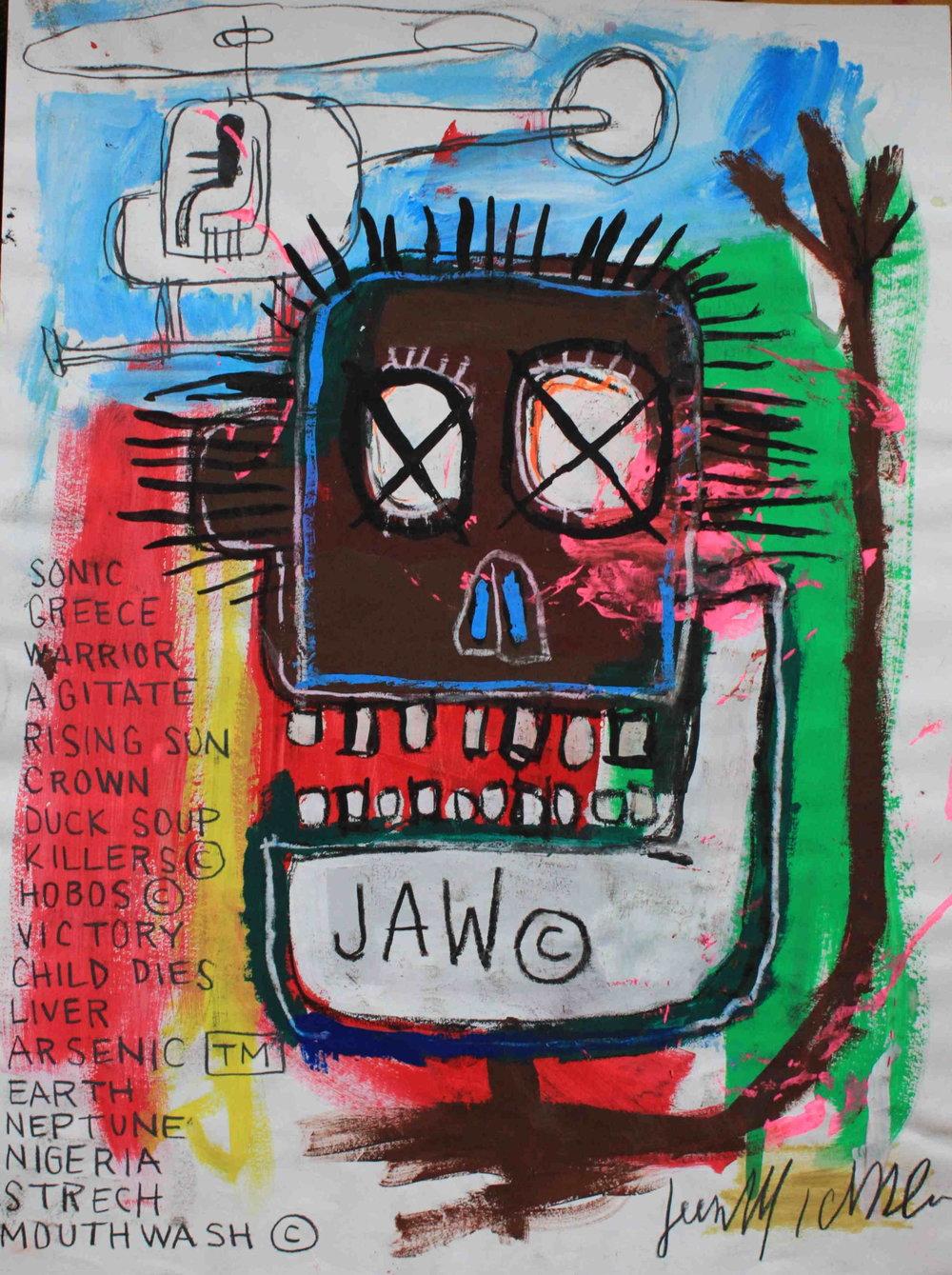 Jean-Michel Basquiat, obra assinada, 1981