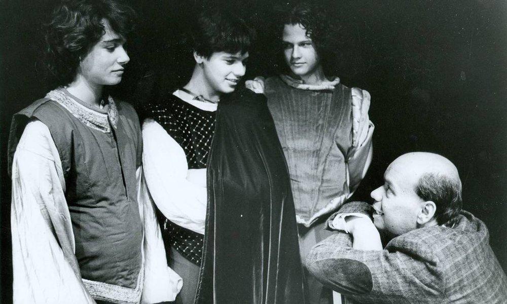 História de O Tablado: Angelo Paes Leme, Danton e Selton Mello com Carlos Wilson