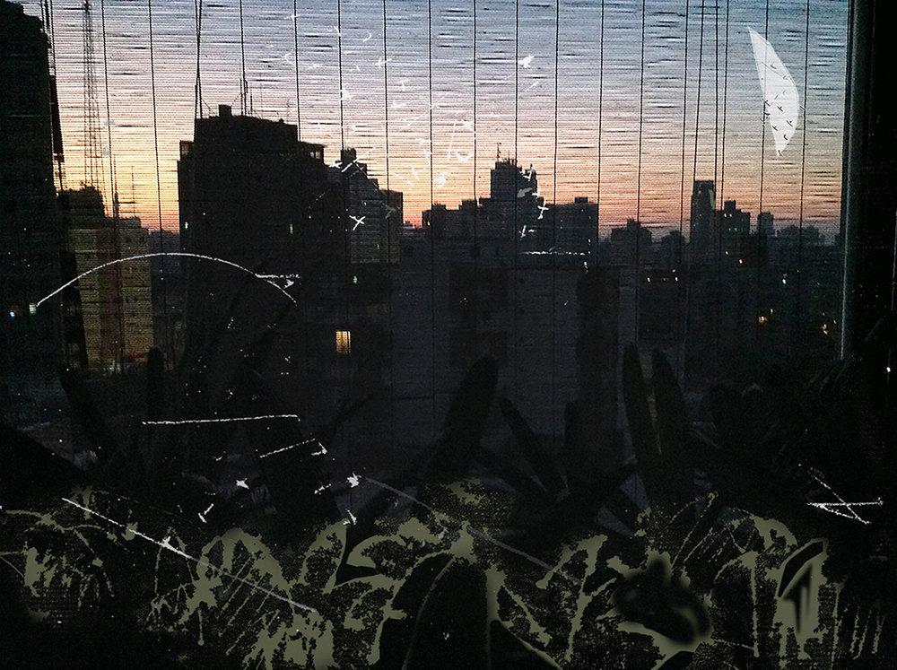 Lena Bergstein, Reflexos da Noite, 2017, fotografia,impressão em papel, 45 cm x 85 cm
