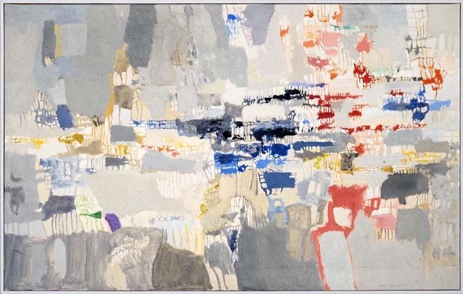 Ione Saldanha, Sem Título, óleo sobre tela, 50 x 80 cm
