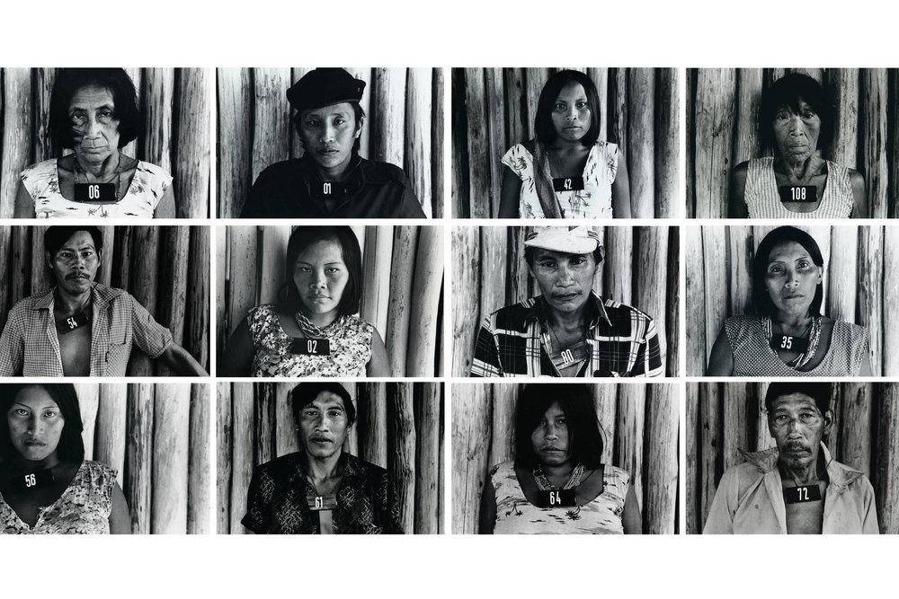 Claudia Andujar, índios Yanomami, numa série com todos da tribo