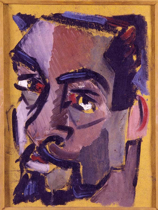 Autorretrato, Antonio Bandeira, 1950