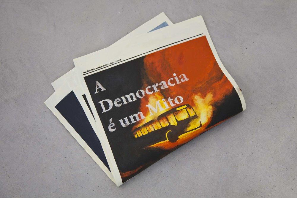 Vanderlei Lopes, A democracia é um mito, 2018, bronze