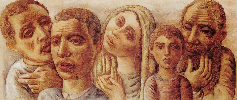 Para retratar sofrimento e desesperança, o artista usou cores rebaixadas: Lasar Segall, Emigrantes III, 1936