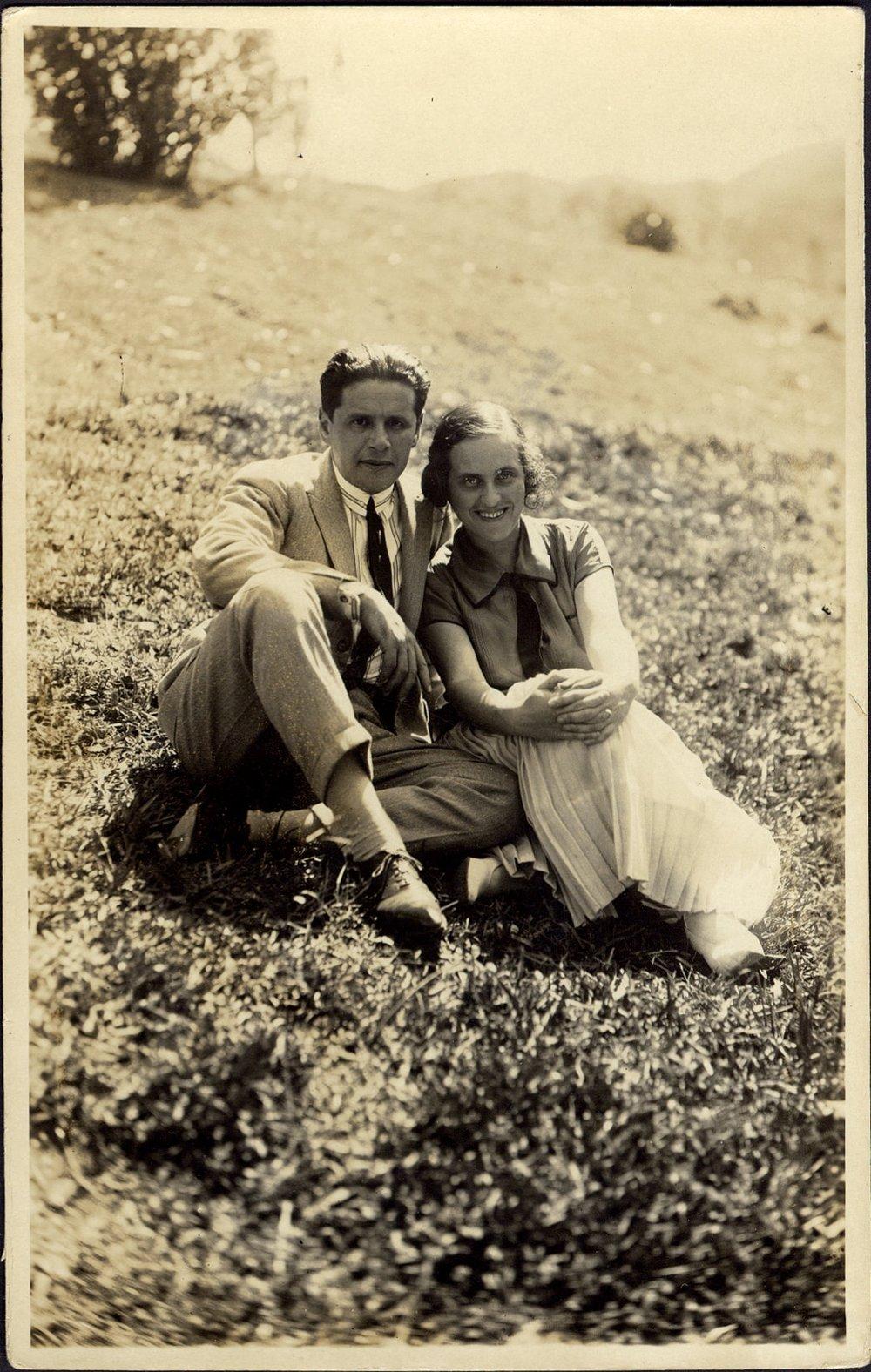 Segall e Jenny em Poços de Caldas, abril de 1925: parte das lembranças do pintor