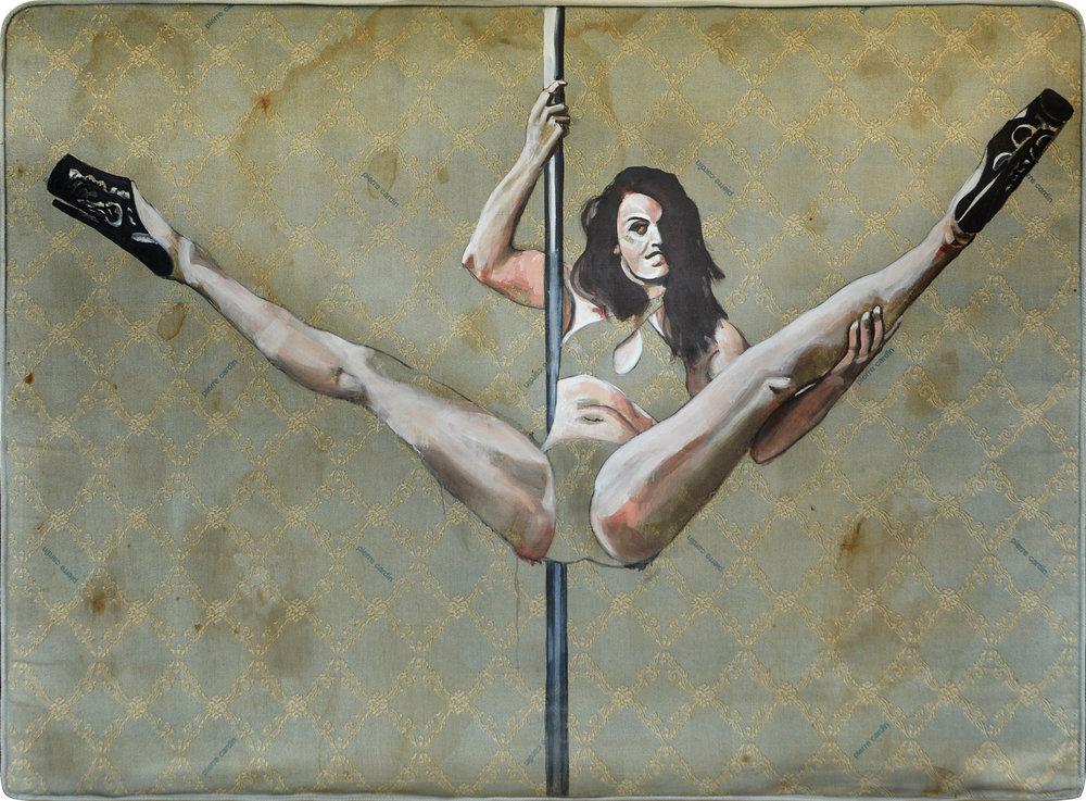 Ligia Teixeira valorizou todas as marcas encontradas nos colchões usados para processar as pinturas