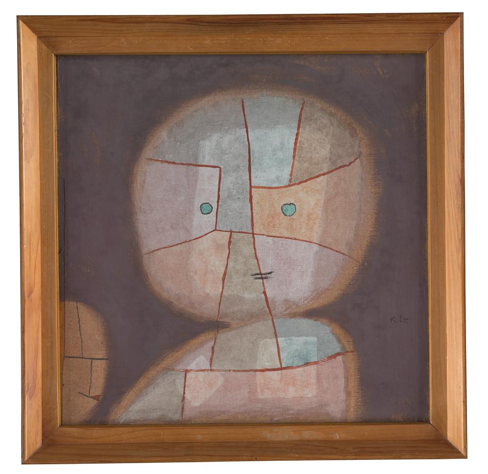 Paul Klee, Büste eines Kindes, 1933, 380 - Bust of a Child/Busto de uma criança - watercolour on cotton on plywood; original frame/aquarela sobre algodão sobre compensado; moldura original, 50,8 x 50,8 cm - Zentrum Paul Klee, Berna