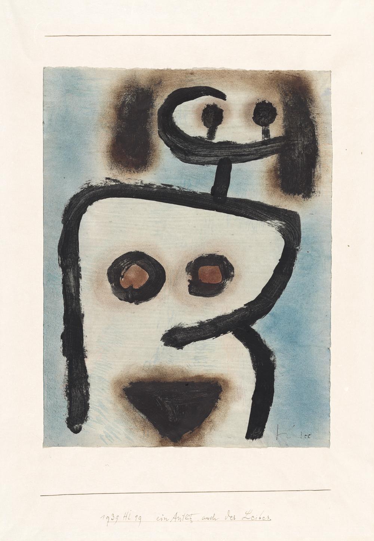 Paul Klee, ein Antlitz auch des Leibes, 1939, 1119 - A Face of the Body, Too/Um rosto também do corpo -coloured paste and oil on paper on cardboard/cola colorida e óleo sobre papel sobre cartão, 31 x 23,5 cm - Zentrum Paul Klee, Berna, doação de Livia Klee