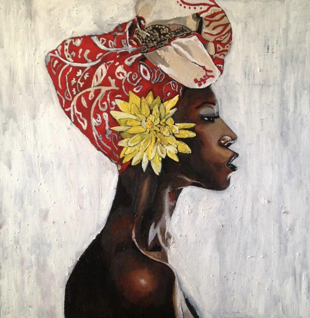 Georgia Lobo, Badu, 2016, óleo sobre tela, 1,10 x 0,90